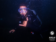 Night dives in amateur and professional diving