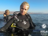 swimming with aqualung in Eilat Res Sea