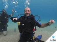 упражнение снятие маски под водой на курсе Open Water Diver
