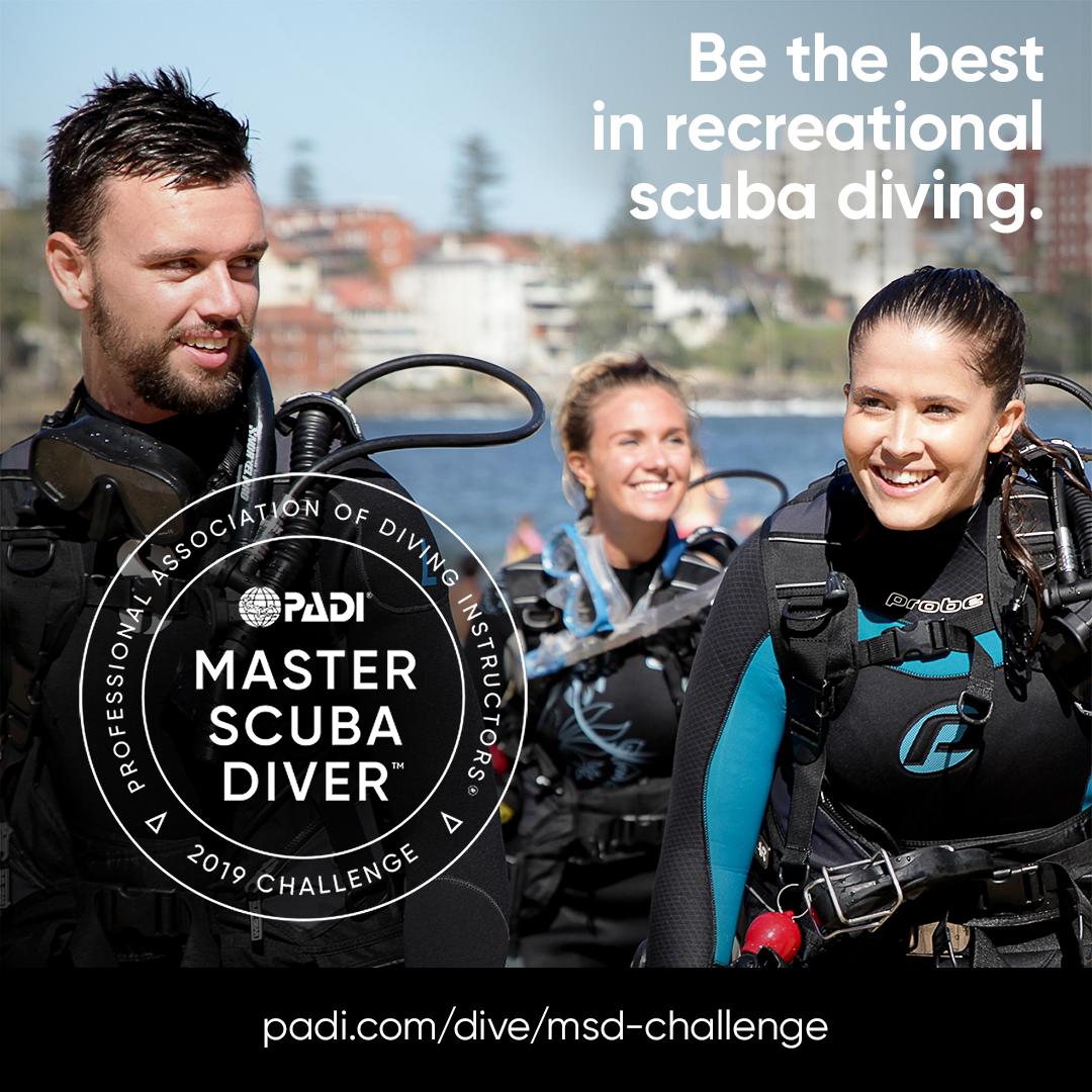 PADI Master Scuba Diver Certification in Eilat