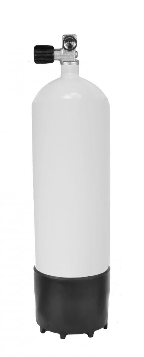מיכל פלדה 10 ליטר 232 אט' לבן כולל ברז ומגף