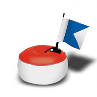 מצוף סימון עם דגל