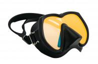 מסכת צלילה Super View שחור עדשה צהובה