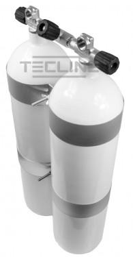 דאבל פלדה 12 ליטר עם תחתית קעורה (שטוחה) כולל מניפולד וחבקי מיכל