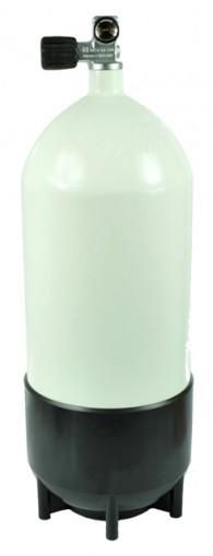 מיכל פלדה 10 ליטר 300 אט' לבן כולל ברז ומגף