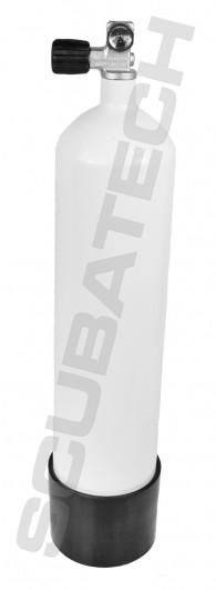 מיכל פלדה 7 ליטר 232 אט' לבן כולל ברז ומגף